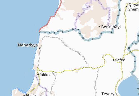 Kaart Plattegrond Ma'Alot Tarshiha
