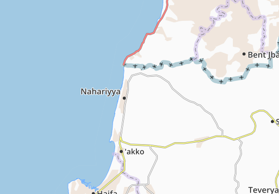 Kaart Plattegrond Kabri