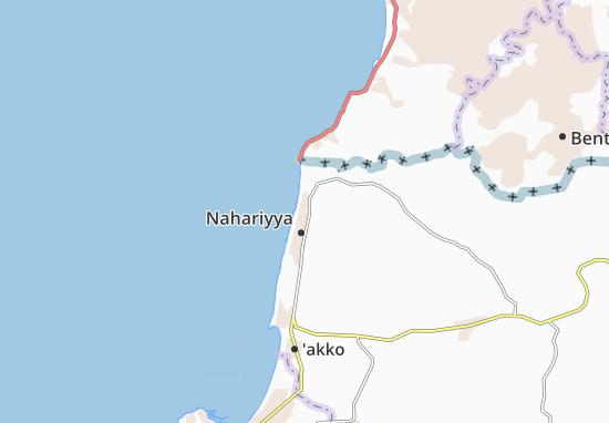 Kaart Plattegrond Gesher Haziw