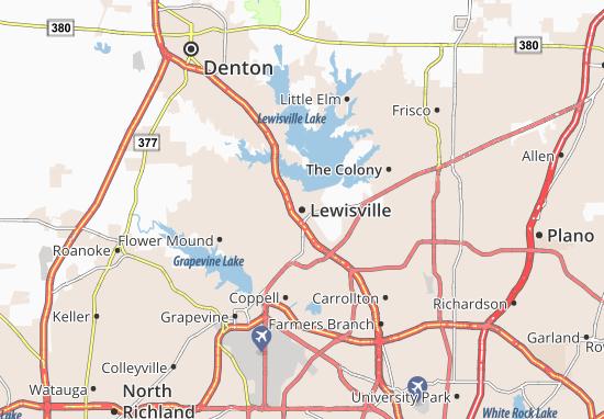 Carte-Plan Lewisville