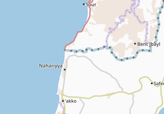 Kaart Plattegrond Ya'Ara