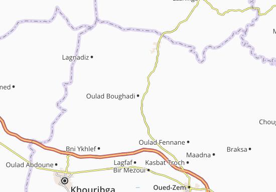 Carte-Plan Oulad Boughadi