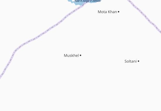 Kaart Plattegrond Muskhel