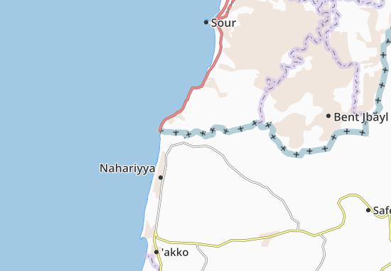 Kaart Plattegrond Hanita