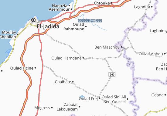 Carte-Plan Oulad Hamdane
