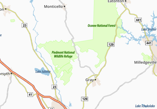 Kaart Plattegrond Round Oak