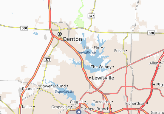Lake Dallas Map