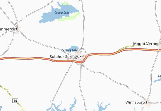 Sulphur Springs Map