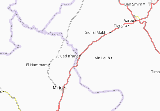 Carte-Plan Oued Ifrane