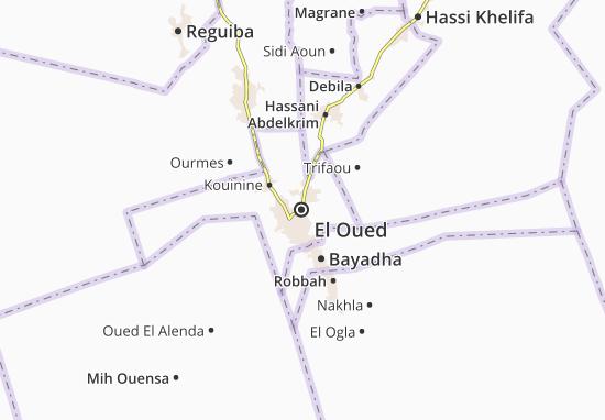 Carte Algerie El Oued.Carte Detaillee El Oued Plan El Oued Viamichelin