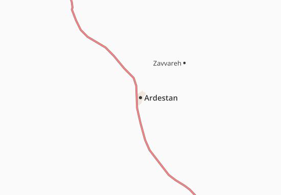 Ardestan Map