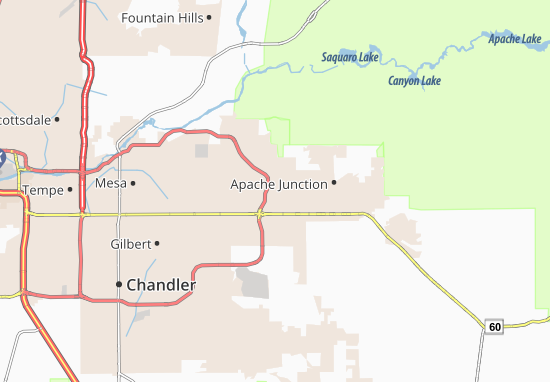 Map Of Arizona Gilbert.Arizona Acres Mobile Home Resort Map Detailed Maps For The City Of