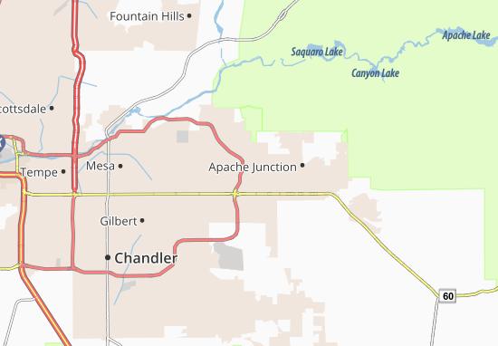 Arizona Acres Mobile Home Resort Map