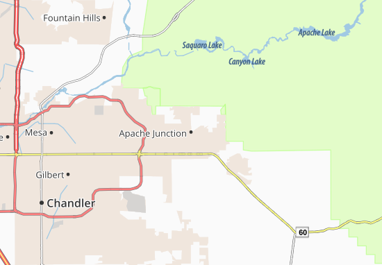 Carte-Plan Apache Junction