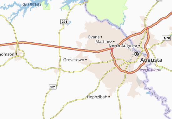 Carte-Plan Grovetown