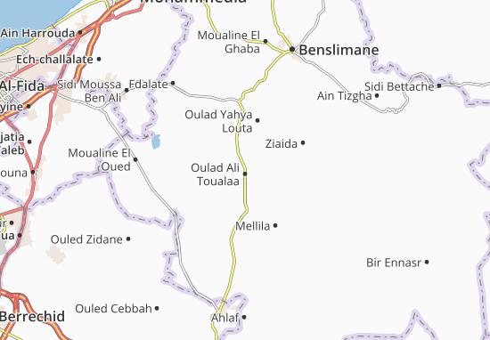 Carte-Plan Oulad Ali Toualaa