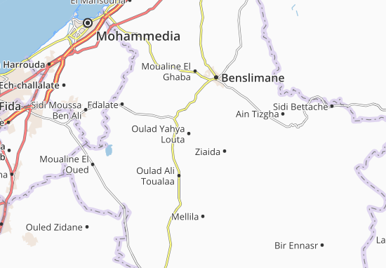 Carte-Plan Oulad Yahya Louta