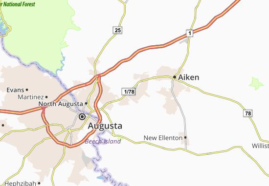Carte-Plan Gloverville