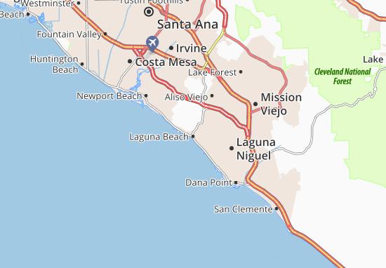 Laguna Beach Map