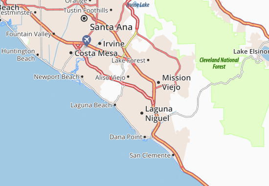 Map Of Aliso Viejo Michelin Aliso Viejo Map Viamichelin