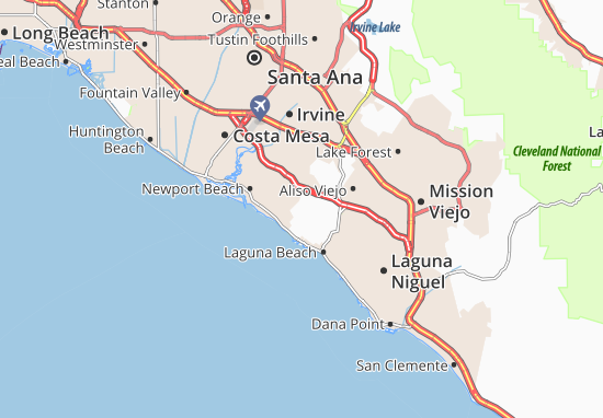 Map Of Newport Coast Detailed