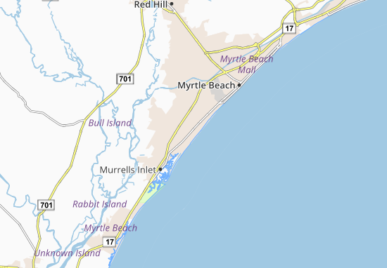 Carte-Plan Surfside Beach