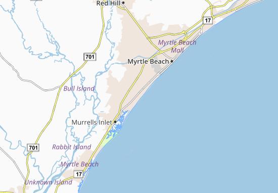 Mappe-Piantine Surfside Beach