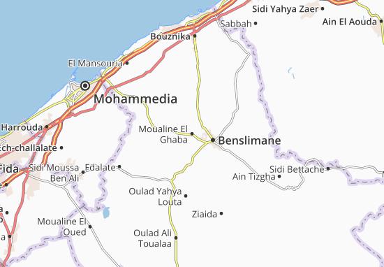 Carte-Plan Moualine El Ghaba