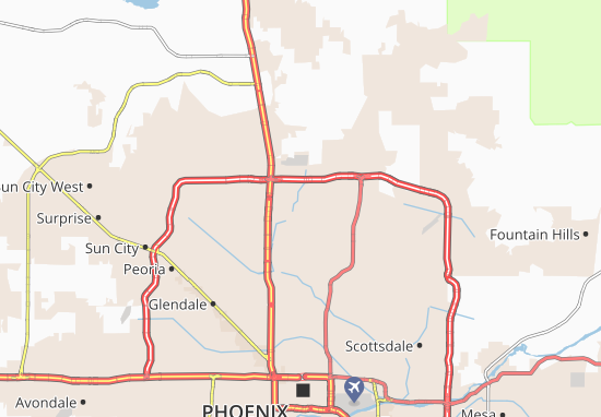 Karte Stadtplan Central Park Village Viamichelin