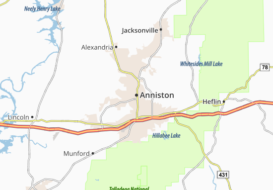 Carte-Plan Anniston