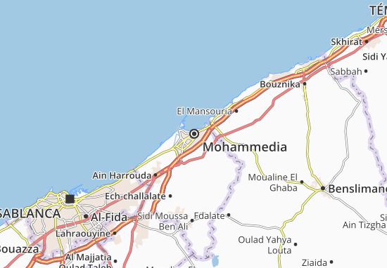 Mapa Plano Mohammedia