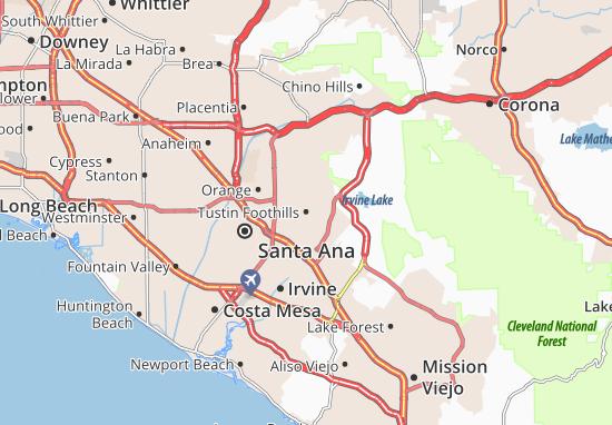 Tustin Foothills Map