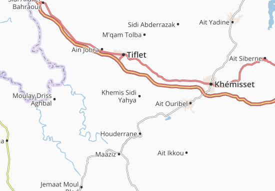 Carte-Plan Khemis Sidi Yahya