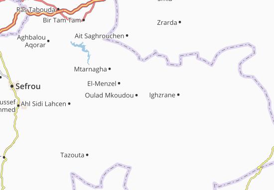 Carte-Plan Oulad Mkoudou