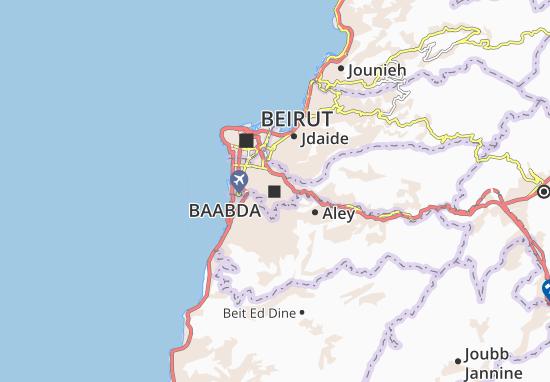 Mapa Plano Baabda