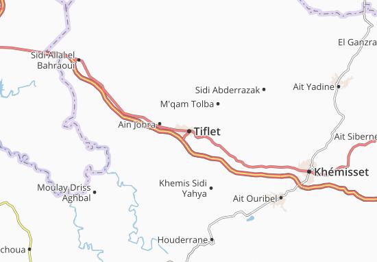 Tiflet Map