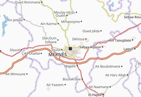 Meknès Map