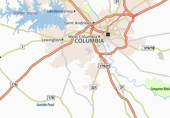 South Congaree Map