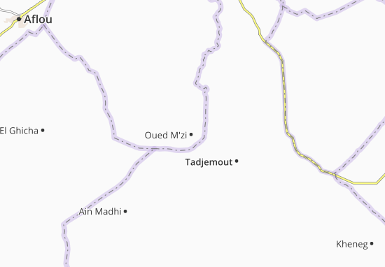 Carte-Plan Oued M'zi