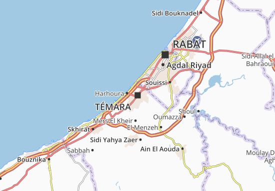 Kaart Plattegrond Témara