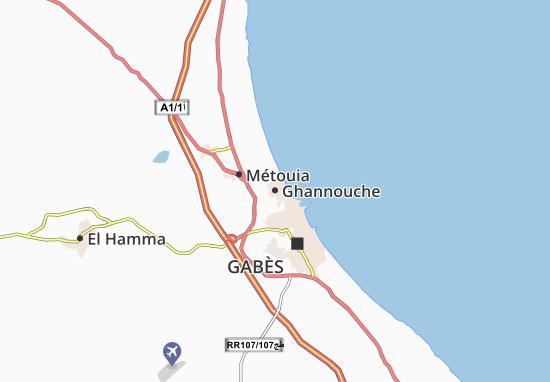 Carte-Plan Ghannouche
