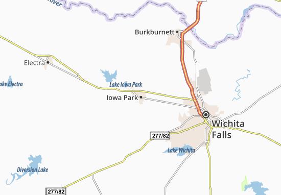 Map of Iowa Park Michelin Iowa Park map ViaMichelin – Iowa Tourist Attractions Map
