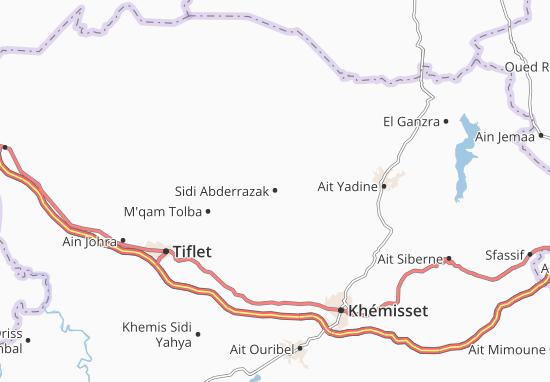 Carte-Plan Sidi Abderrazak