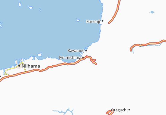 Iyo-mishima Map