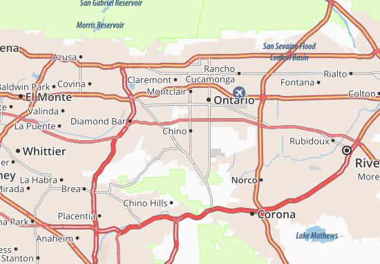 Kaart Plattegrond Chino
