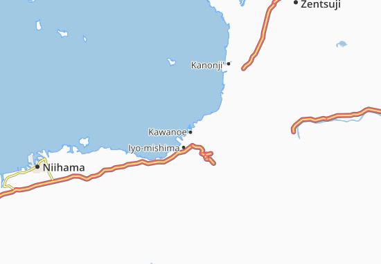 Map Of Kawanoe Michelin Kawanoe Map ViaMichelin - Niihama map