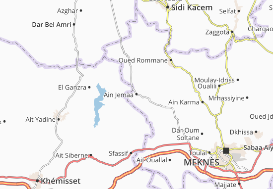 Carte-Plan Ain Jemaa