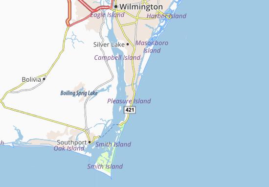 Map of Carolina Beach - Michelin Carolina Beach map - ViaMichelin Carolina Beach Map on