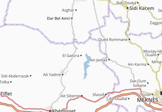 Carte-Plan El Ganzra