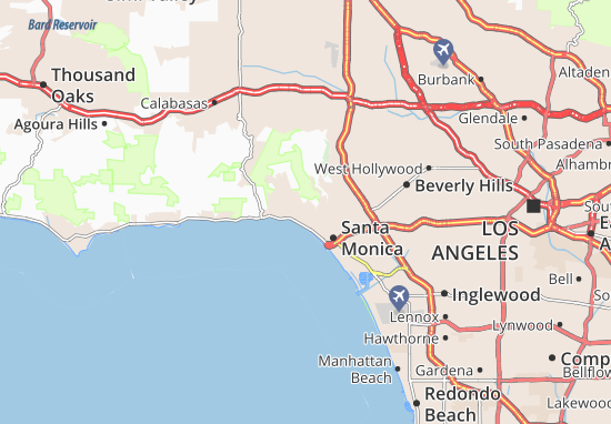 Map Of Pacific Palisades Michelin Pacific Palisades Map Viamichelin